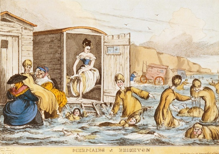 Visiting the Beach in Regency Times