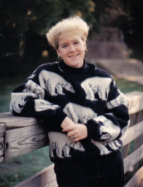Senior pic. Dig that 80s hair!