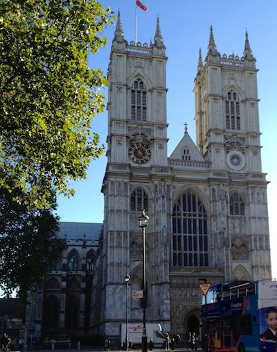The two towers of Westminster Abbey