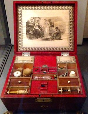 Sewing box.