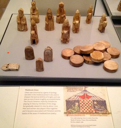 Medieval chess set.
