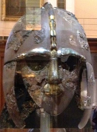 The famous Sutton Hoo helmet.