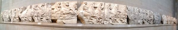 Panoramic view of the Elgin marbles.