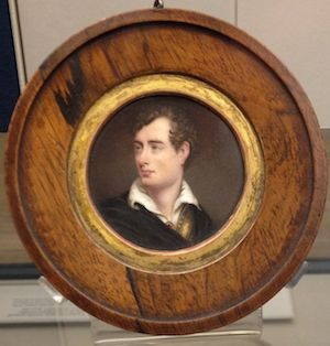 A portrait of Lord Byron, who reminds me a bit of John Mayer - and Tom Hanks.