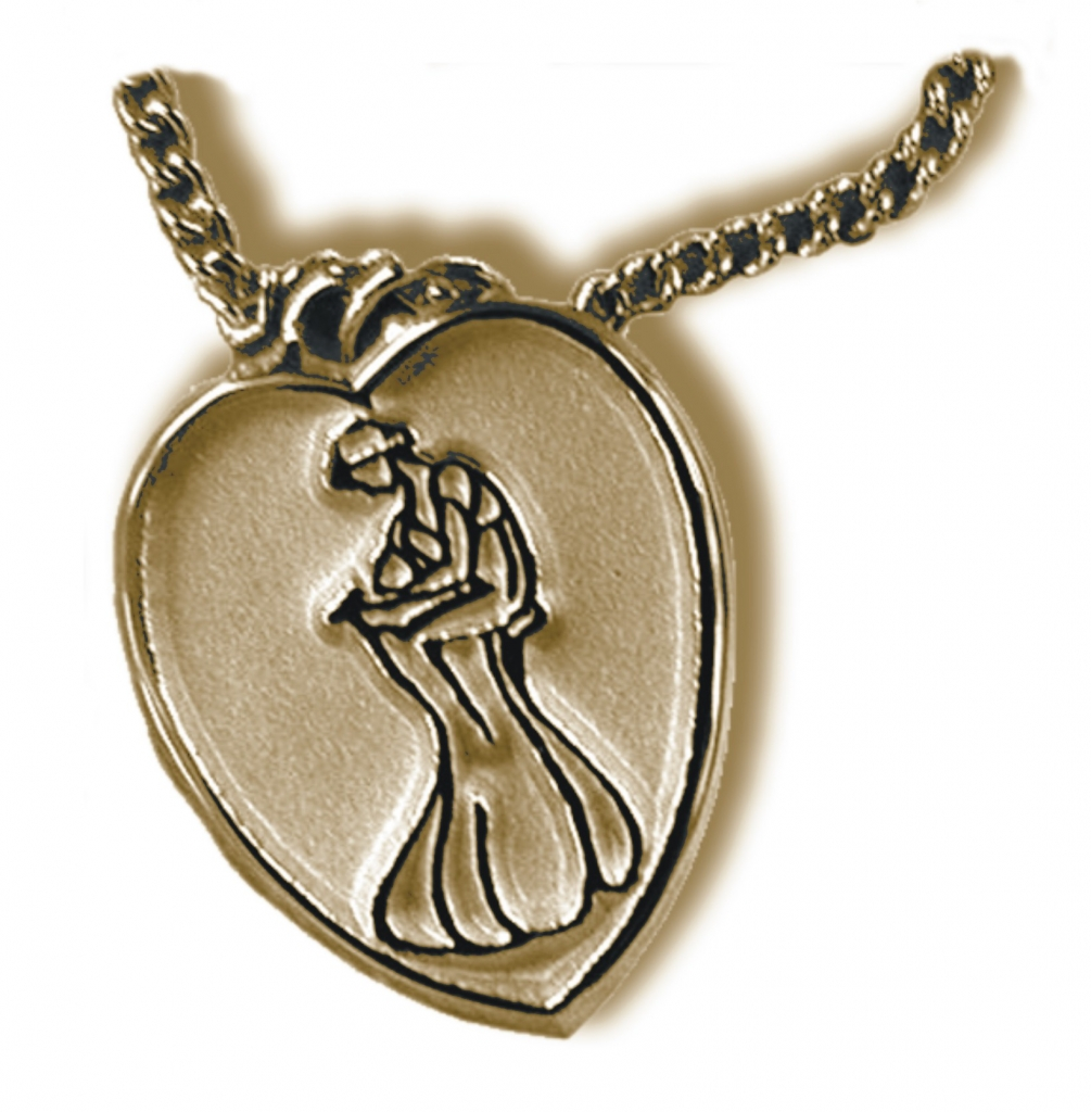 The coveted Golden Heart necklace