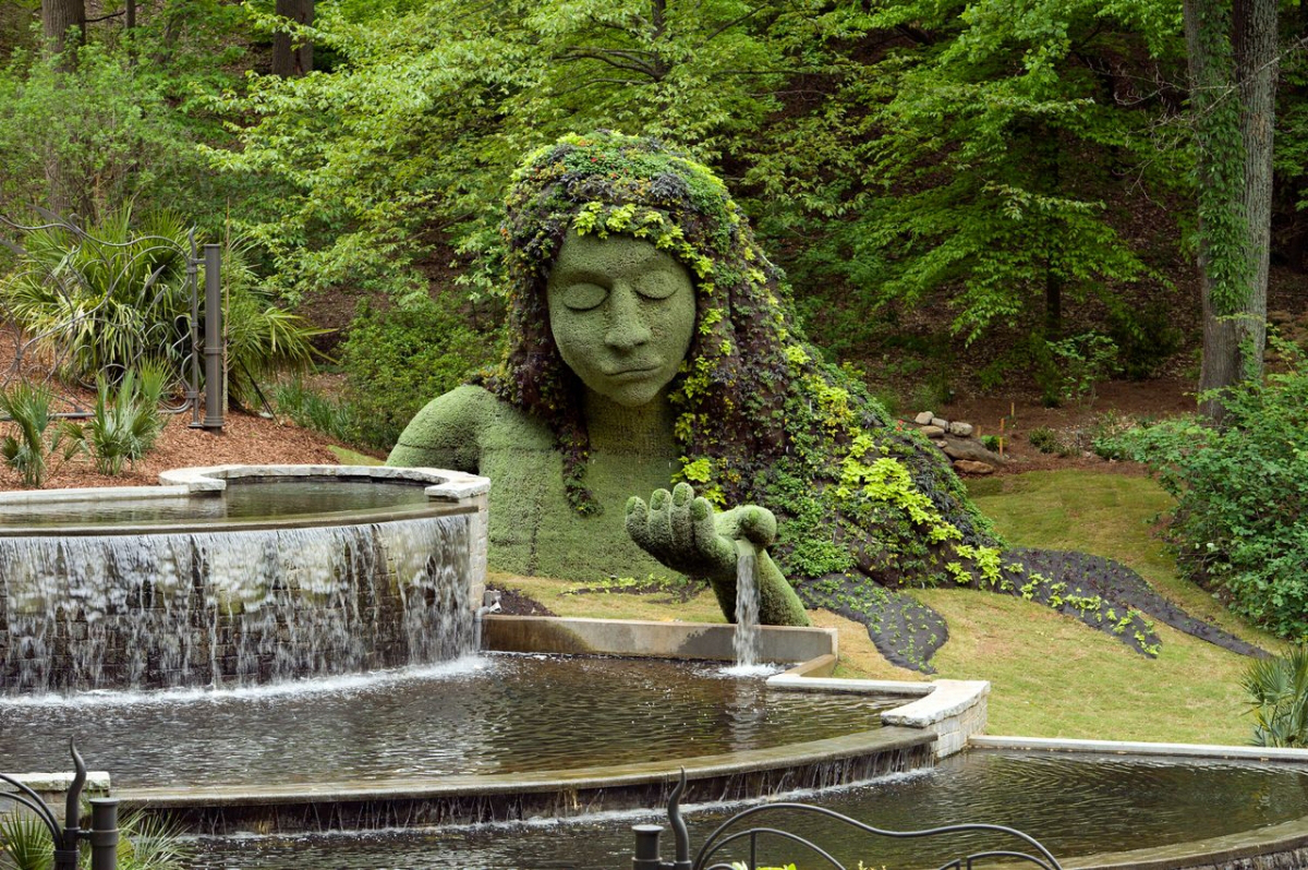 Earth goddess. Imaginary Worlds exhibit, Atlanta Botanical Garden. Photo by C. Joey Ivansco. Used by permission.