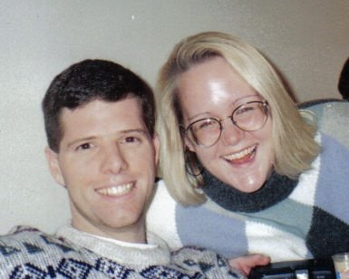 Here we are in 1997; we'd been dating for a few months. It's my favorite picture of us.