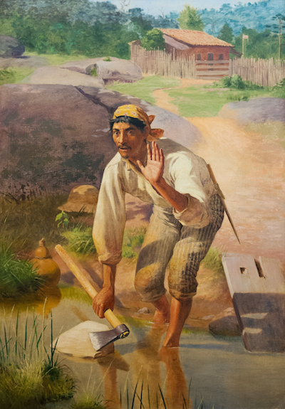 Whetting Interrupted, 1894. Public domain painting by Jose Ferraz de Almeida Junior.
