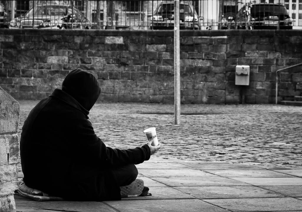 The Beggar. CC2.0 photo by Foto_Michel.