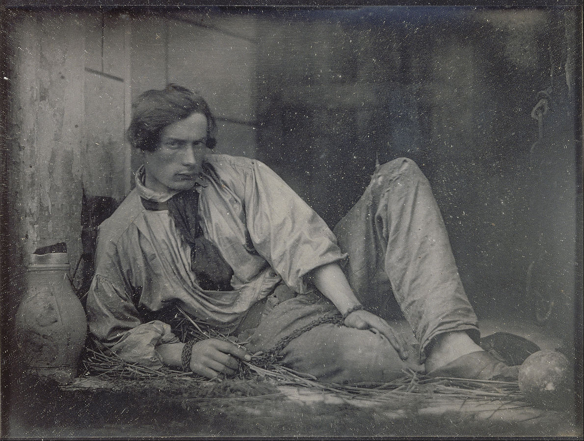 Louis Dodier as a prisoner, 1847. Public domain daguerrotype photo by Louis Adolphe Humbert de Molard; courtesy Google Art Project.