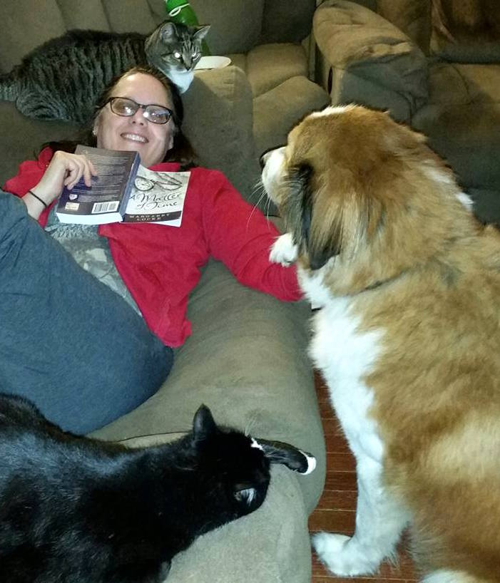Long-time friends supported me, too, including my grade-school friend Heather, whose animals apparently also want to read A Matter of Time!
