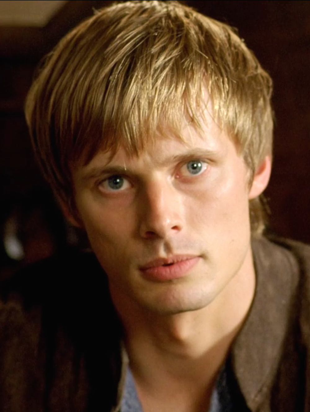 Bradley James as Prince/King Arthur in the BBC's The Adventures of Merlin.