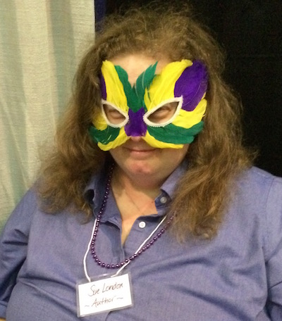 Sue London getting silly at the West Virginia Book Festival