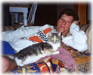 The then-boyfriend, now husband with Chazzy.