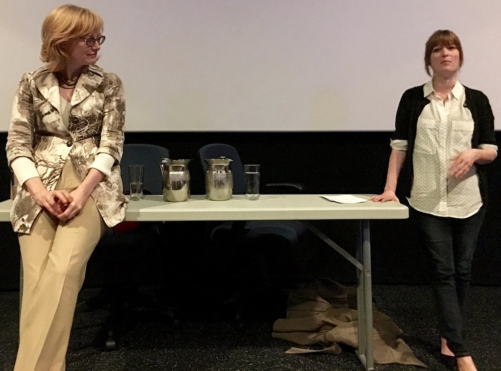 Eloisa James and Maya Rodale talk the state of the romance industry following a screening of Love Between the Covers