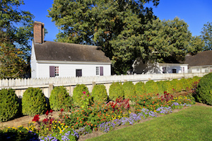 Wythe Gardens at the George Wythe house in Colonial Williamsburg, VA