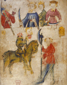Gawain and the Green Knight medieval illustration