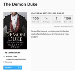 USA Today Bestseller The Demon Duke